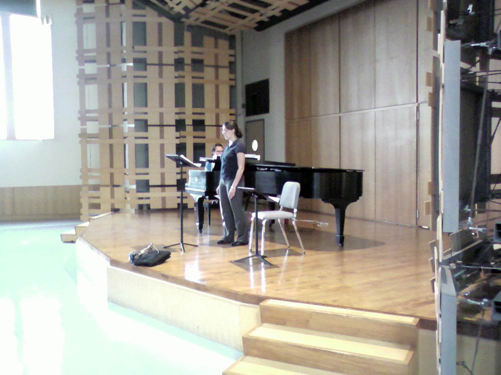 Crystal and João Paulo Casarotti rehearsing for a concert of Mahle's music at Rock Hall, Philadelphia